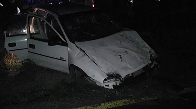 Árokba sodródott egy autó a 38 as főúton - szon.hu